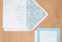 Moroccan Beat / My inspirations for creating the Moroccan Beat wedding invitation collection.