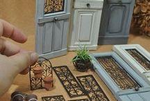 coorte e finestre in miniature