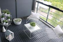 utestue + balkong