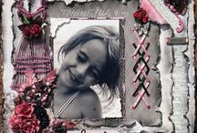 pages de scrapbooking / by Kathleen Paquin