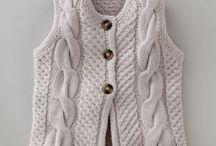 Colete em trico e Crochet