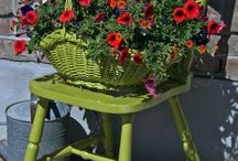 Chairs with flowers