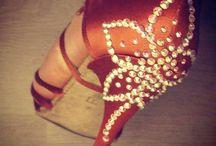 Salsa shoes glitter decoration