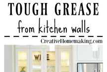 Kitchen Cleaning Hacks / Here you will find expert tips and hacks for cleaning your kitchen stove, cabinet doors, appliances, microwave, and floors! Make your own dishwasher detergent, learn how to clean your oven or microwave, remove grease stains, and more.