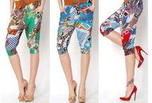 Pantaloni capri,colorati