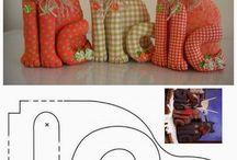 Muñecos de tela y patchwork