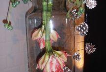 werk met bloemen/ boemstukje