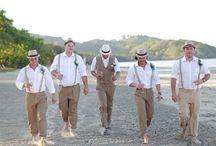 Groom's beach attire