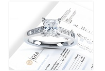 """GIA certified / The Gemological Institute of America is the #1 diamond grading institution in the world.  You should always have a GIA certificate to accompany your diamond jewelry; this lets you and diamond buyers know the exact specifications of your diamonds.  """"I want to sell my diamond!"""" - make sure you have a GIA evaluation certificate first."""