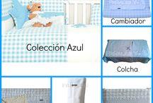 Ropa Cuna Azul - Kiwisac / Si tienes un niño y/o quieres hacer un buen regalo, este conjunto de cuna azul de Kiwisac es elegante y de una gran calidad.