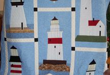 Art quilt lighthouse