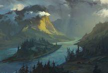 Fantasy Landscapes / Disegni di Paesaggi Fantasy