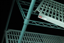 Super Erecta Pro / Epoxy Coated Super Erecta-Style Frames with Removable Polymer Shelf Mats and Microban Antimicrobial Product Protection