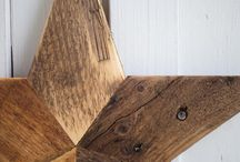 Handmade Wooden Stars / Rustic wooden stars made from reclaimed wood.