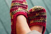 zapato a crochet