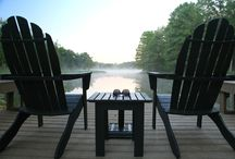 Dock Decor / Lakeside living means plenty of outdoor space to decorate!