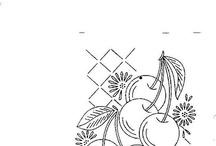 rysunek owoce