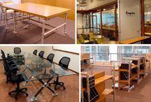 Einrichtung des Arbeitzimmers / Möbel, Accessoirs und Design- und Einrichtungsideen rund ums Arbeitszimmer oder den Arbeitsplatz - Alle vorgestellten Projekte kannst du mit individuellen Maßen nachbauen