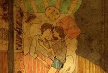 Ilustrações de casal