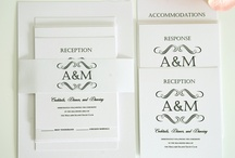 Monogram Wedding Invitations / by InvitesWeddings