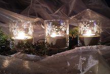 svíčky, svícny, lampiony