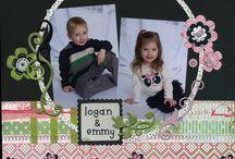 Scrapbooking ~ Grandkids / Logan and Emersyn / by Valerie Loescher