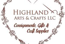 Highland Arts and Crafts LLC / This is the board for Highland Arts and Crafts in Highland IL. We are opening August 2018 and will feature products from local artisans/crafters, craft supplies, classes and special events.
