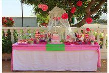 Candy bar - Bautizo chuches / Candy Bar de un bautizo para una niña de 1 añito.
