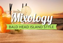 """Mixology ~ Bald Head Island Style / Here we will share with you """"Bald Head Island Inspired"""" cocktail recipes.  You can purchase your beer, wine, and mixers on the island but, make sure you buy any liquor you may need prior to leaving the mainland, as there is not an ABC store on-island.  ***Please note- Bald Head Island follows all NC license laws. No open containers allowed on the golf carts."""