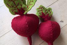 Filc zöldségek gyümölcsök