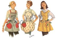 Vintage / Vintage clothing, posters, and decorations.