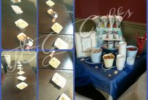 sweet tables and extras / Our sweet tables meet your colour or theme. We work with any budget. For more information contact us on Facebook www.facebook.com/jgsgifts or email me at jgsgifts@gmail.com  Newcastle upon Tyne area.