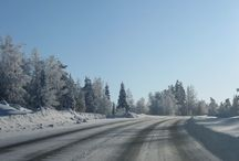 On the road in Finland