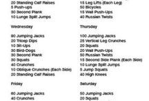 Weightloss exercises / A wall full of weightloss exercises. Easy and helpful ways to lose weight or built muscles through simple exercises that can be repeated multiple times a week.