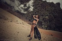 "Dark Queen and Queen of Light / ""dark queen"", ""queen of light"", moody, desert, nature, rocks, cliffs, evil, devil, kind, light, goddess, sunshine, witchcraft, spell, ""outdoor shoot"""