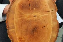 Log chopping board