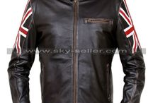 UK Flag Motorcycle Distressed Leather Jacket / Get this Stylish Cafe Racer Vintage UK Flag Brown Jacket at most low price from Sky-Seller and avail free Shipping.