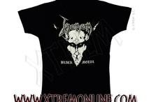 Camisetas de Grupos Heavy Metal y Rock para Mujer / Camisetas de grupos Heavy Metal y Rock para chica en XTREM.