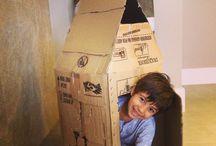 Casa de papel / Caixa de papelão