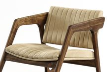 SHORTTAIL // Rocking Chair / Walnut & Fabric, Leather W:75 L:100 H:85 // Designed By Kerem Erçin & Mahmut Kefeli, 2011