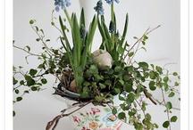 Blomster dekorationer og buketter
