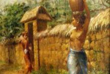 Indonesian Art  (7) Abdul Aziz / Paintings by Abdul Aziz