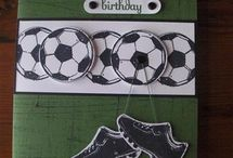 Scrapbooking card football