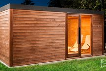 Comfort sauna with relax / This sauna was made with passion for daily use. Combined sauna with bath and relax area.