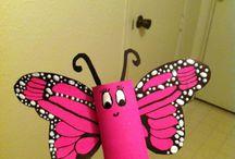 Rouleaux de papier de toilette: papillons magiques