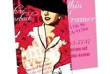 La Femme Card collection / Four La Femme custom design card collections! Make them you own at MySocialCards.com