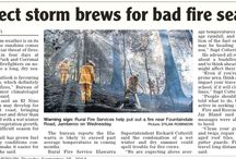 Bush & Wild Fire Media Articles / Media about the effects of fires.