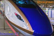 Japan's Shinkansen high-speed train E7 - High-Speed-Zug Shinkansen E7 - Train à grande vitesse Shinkansen balle E7