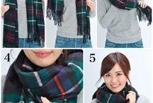 スカーフ巻き方