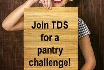 TDS Pantry Challenge / Join other frugal friends in the TDS Pantry Challenge as we challenge ourselves to save on food costs, organize our pantries, minimize food waste and get creative in the kitchen! #TDSPantryChallenge